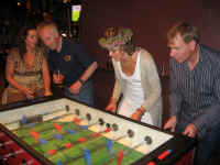 Table football was a great hit!